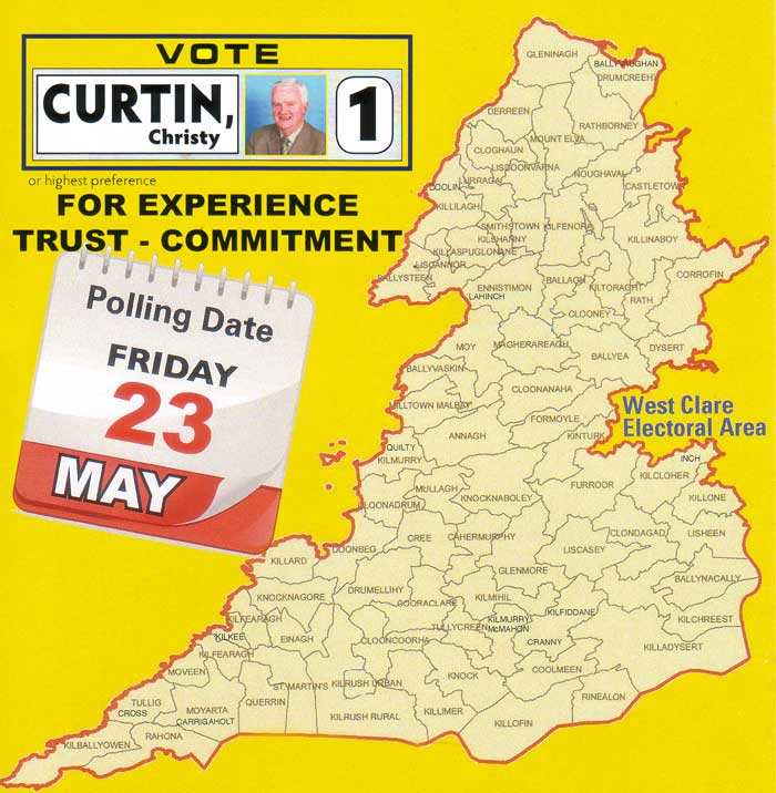 Christy Curtin, Independent Councillor working on your behalf. Please Vote No. 1 or Highest Preference.